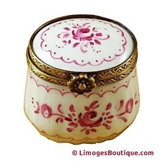 SMALL PINK DELFT LIMOGES BOXES