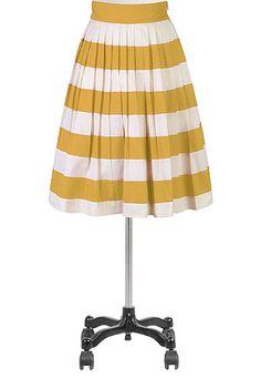 #eShakti Her fifties colorblock skirt