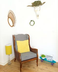 Chic&Vintage fauteuil en rotin vintage