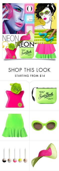 """""""Bright Eyes: Neon Beauty"""" by zouus ❤ liked on Polyvore featuring beauty, Bond No. 9, MC2, Issa, UNIF, Versace, Vanity Fair, Philip Treacy, polyvorecommunity and polyvoreeditorial"""
