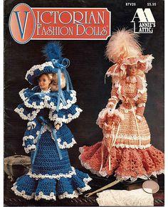 Victorian Fashion Dolls fits Barbie from Annies Attic 87V26.