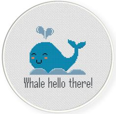 FREE for June 4th 2014 Only - Whale Hello There Cross Stitch Pattern