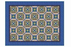 A beginner friendly quilt pattern, Chain and Knot offers lots of opportunity for color play and diagonal flow in your finished quilt.