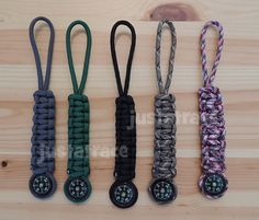 Paracord Key Fob With Compass by Justatracedesign on Etsy