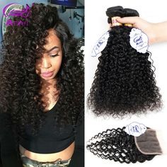 Cannot wait to install this mongolian kinky curly hair with closure. Gorgeous tight curl pattern