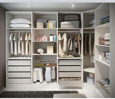 64 Ideas For Bedroom Wardrobe Storage Ikea Pax Closet System Walk In Closet Ikea, Ikea Pax Closet, Smart Closet, Corner Closet, Ikea Pax Wardrobe, Small Closet Space, Wardrobe Storage, Bedroom Wardrobe, Closet Storage