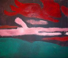 wepaint.dk kursus landskabsmaler ser sådan ud i begyndelsen af maleprocessen...