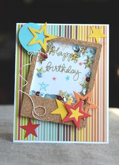 Ideas birthday wishes for kids cards stamp sets for 2019 Birthday Wishes For Kids, Cool Birthday Cards, Handmade Birthday Cards, Birthday Diy, Winter Karten, Star Cards, Interactive Cards, Winter Cards, Birthday Balloons