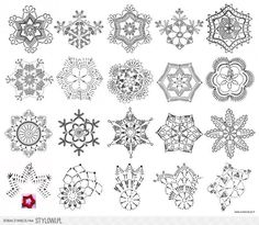 Little Town - Snow Crystals Jolly - Amy Sinibaldi - Art Gallery Fabrics - Fabric By the Half Yard - Her Crochet Crochet Snowflake Pattern, Christmas Crochet Patterns, Holiday Crochet, Crochet Snowflakes, Crochet Patterns Amigurumi, Crochet Instructions, Crochet Diagram, Crochet Motif, Crochet Doilies