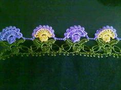 tig oyasi modeli Crochet Borders, Border Design, Crochet Earrings, Embroidery, Sewing, Pattern, Youtube, Instagram, Knitting And Crocheting