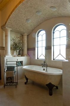 Luxury House Interior Design for Beautiful Period Style Mansions, Castle, and Villa Estates Luxury Homes Dream Houses, Luxury House Plans, Luxury Homes Interior, Dream House Plans, Home Interior Design, Tuscan Bathroom, Master Bathroom, Castle House, Tuscan Decorating