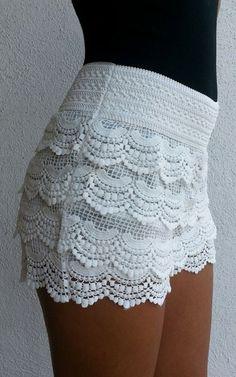Crochet Shorts - Ivory