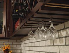 wine glass storage