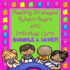 With this product you bundle AND SAVE!  It includes 14 strategies to display in your reading area! Each strategy measures 8  inches tall by 5  wide.  All are framed in black and white polka-dots.  Also as part of this bundle I have included an individual card with all 14 strategies!