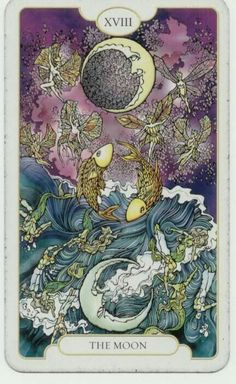 The origins of the Tarot are surrounded with myth and lore. The Tarot has been thought to come from places like India, Egypt, China and Morocco. Others say the Tarot was brought to us fr Illustration, Tarot Spreads, Major Arcana, Oracle Cards, Moon Art, Tarot Decks, Tarot Cards, Tarot Card Art, Illusions