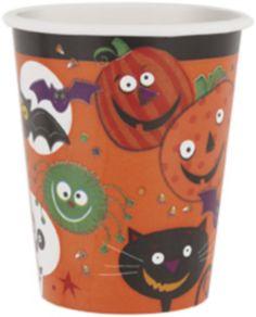 8 gobelets Petits Monstres Halloween : Ces gobelets petits monstres se vendent par lot de huit. Ils sont en carton et ont une contenance de 25 cl chacun. Ils seront parfaits pour décorer votre table lors de votre soirée...
