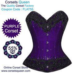 hand made corset design, purple corset dress