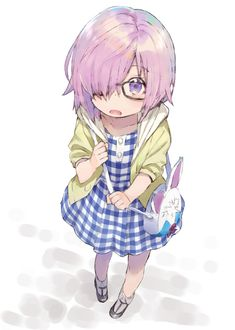 Little Mashu Kyrielight Loli Kawaii, Kawaii Anime Girl, Anime Art Girl, Fate Zero, Fate Stay Night, Character Art, Character Design, Anime Group, Anime Child