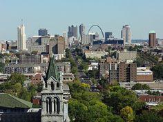 St Louis Mo, San Francisco Skyline, Missouri, Cities, Saints, Meet, Explore, History, Fun