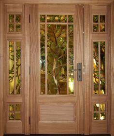 Stained Glass Tree Door