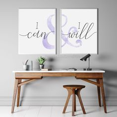 Office Wall Decor, Modern Wall Decor, Office Walls, Office Spaces, Purple Rooms, Or Mat, Bible Verse Wall Art, Christmas Wall Art, Dining Room Walls