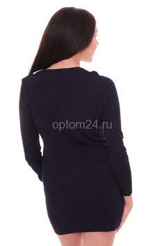Платье-туника темно-синее СК 30237 Размеры: 44-46 Цена: 400 руб.  http://optom24.ru/plate-tunika-temno-sinee-sk-30237/  #одежда #женщинам #платья #оптом24