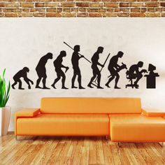 150cm-Theory-Evolution-Gamer-Programmer-Vinyl-PC-Wall-Decor-Decal-Sticker-Gift
