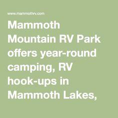 Free RV Camping - Mammoth Lakes, California | Rv home | Pinterest | Mammoth  lakes california, Mammoth lakes and Rv camping