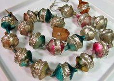 Vintage Christmas glass garland