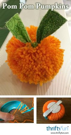Pom Pom Pumpkins This is a guide about making a pom pom pumpkin. Pom poms are inexpensive and easy to make for using in all kinds of craft projects.Poms POMS or Poms may refer to: Pom Pom Crafts, Pom Pom Diy, Craft Stick Crafts, Diy Crafts, Clover Pom Pom Maker, Pom Pom Wreath, Paper Pom Poms, Crafts For Seniors, Easter Bunny Decorations