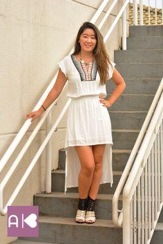 Vestido bordado branco!