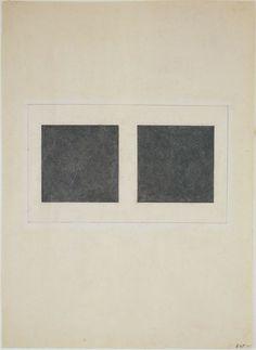 Kazimir Malevich. Suprematist Elements: Squares. (1923)