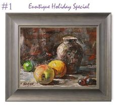 Euntique Holiday Special - Original Painting + Frame for $195 - Great Gift Idea   #holiday #gift #giftspecial #present #artwork #art #painting #originalpainting #originalartwork #special #christmas #newyear #thanksgiving #birthdaygift #euntique