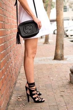Lace Up Jeffrey Campell heels // Gucci soho bag // Summer Fashion