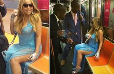 Videos: Bedazzled Mariah Carey Documents Early Morning Subway Trip