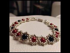How to Make a Flower Bead Bracelet  ~ Seed Bead Tutorials