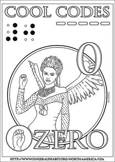 ASL-Fingeralphabet Cool-Codes-Coloring ZERO lassal  Get the PDF Coloring Page! Alphabet Charts, Coloring Pages, Zero, Pdf, Coding, Posts, Cool Stuff, Artwork, Blog
