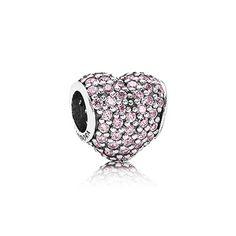 PANDORA | Pavé heart, pink cz