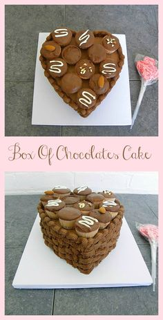 How To Make a Box Of Chocolates Cake- Perfect for birthdays or Valentine's Day