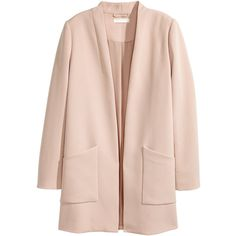 Long Jacket $49.99 (5480 RSD) ❤ liked on Polyvore featuring outerwear, jackets, woven jacket, fleece-lined jackets, long jacket, longline jacket and pink jacket