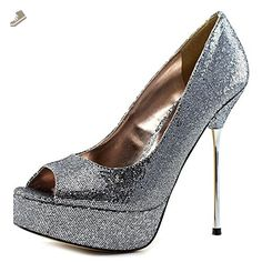 Steve Madden P-GLACEE Women US 7.5 Silver Heels - Steve madden pumps for women (*Amazon Partner-Link)