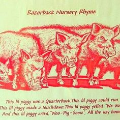 Hogs..oh yes this will be said to my first child all the time!! Lol :)