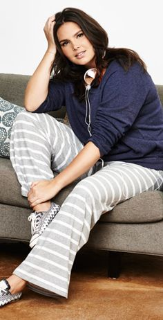 Plus-size sleepwear, lounge and robes.