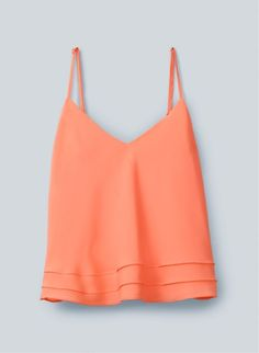 simple orange tank: cute over high rise jeans or a white skirt