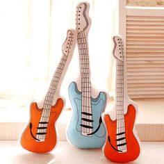 Free Shipping You haven't seen this Guitar Pillows. Theycan make you rock. Filling: PP CottonMaterial: Cotton