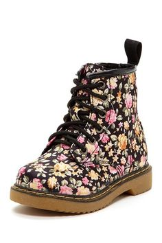 Flower Combat Boot by Crazy For Combat Boots! on @HauteLook