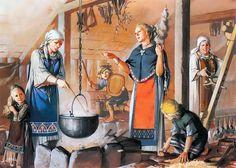 """""""Viking women, 9th-10th century A.D.""""- La Pintura y la Guerra. Sursumkorda in memoriam"""