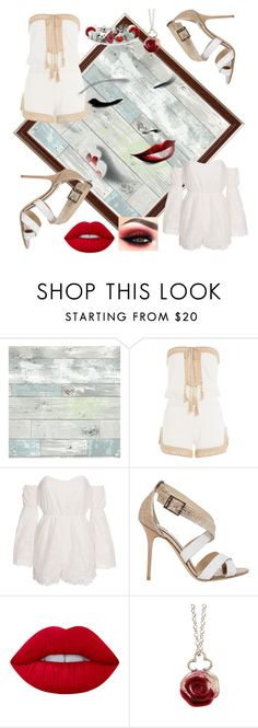 """""""rompers and jimmy choo shoes💋"""" by sjoberty-sj ❤ liked on Polyvore featuring WallPops, Anna Kosturova, Kiss The Sky, Jimmy Choo, Lime Crime, Sian Bostwick Jewellery and Bling Jewelry"""