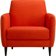 This side chair in tangerine may be all the pop your room needs.    Tangerine Crush is Pantone's color of the year for 2012