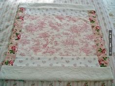 NEW shabby chic ROSES pink toile RUG rachel by vintageroseslove Shabby Chic Dining Room, Shabby Chic Desk, Shabby Chic Fabric, Chabby Chic, Shabby Chic Curtains, Shabby Chic Baby Shower, Shabby Chic Style, Shabby Chic Furniture, Shabby Cottage